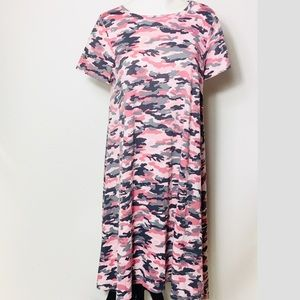 Lularoe M Pink Camo Carly Dress -Super Unicorn 🦄